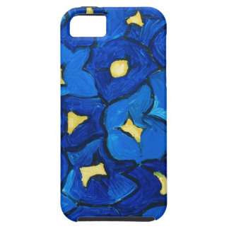 Blue Iris Bouquet Pattern iPhone 5 Case