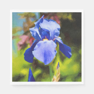 Blue Iris Disposable Napkin