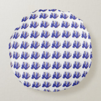Blue-Iris_Floral-Print_II_Stylish-Accent_Pillow Round Cushion
