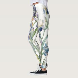 Blue Iris Flower Garden All Over Print Leggings