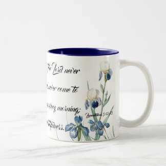 Blue Iris Flower Garden Gods' Mercy Mug