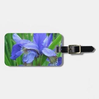 Blue Iris flowers Bag Tag