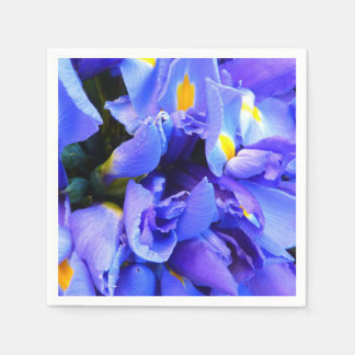 Blue Iris flowers Disposable Serviettes