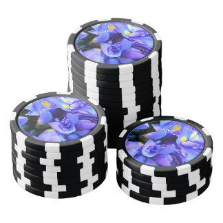 Blue Iris flowers Poker Chips
