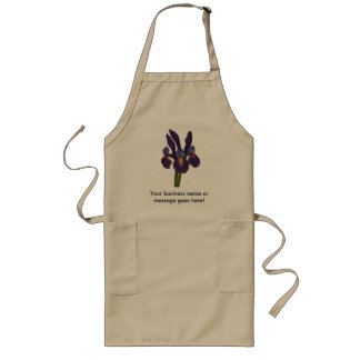 Blue Iris Long Apron