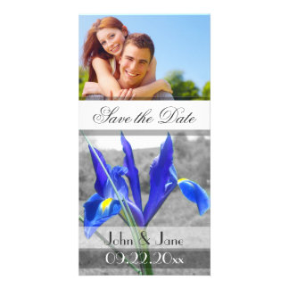 """Blue Iris  /photo  """"Save the Date"""" Personalized Photo Card"""