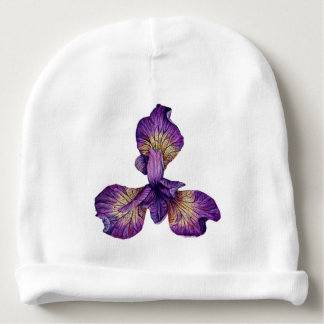 Blue Iris Siberica Flower Baby Beanie