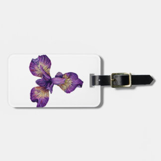 Blue Iris Siberica Flower Bag Tag