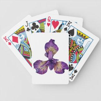 Blue Iris Siberica Flower Bicycle Playing Cards