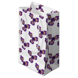 Blue Iris Siberica Flower Small Gift Bag