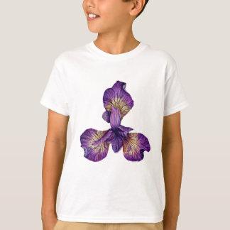 Blue Iris Siberica Flower T-Shirt