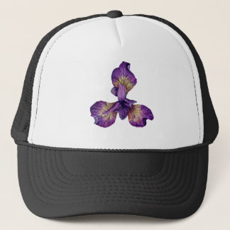 Blue Iris Siberica Flower Trucker Hat