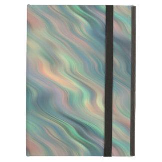 Blue Iris Wavy Texture iPad Air Cases
