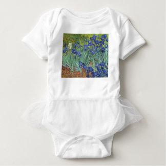 Blue Irises Baby Bodysuit