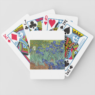 Blue Irises Bicycle Playing Cards