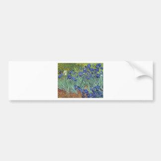 Blue Irises Bumper Sticker