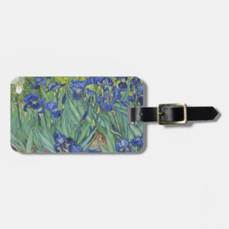 Blue Irises Luggage Tag