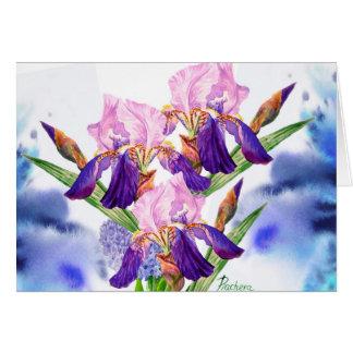 Blue Irises Note Card