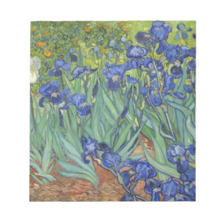 Blue Irises Notepad