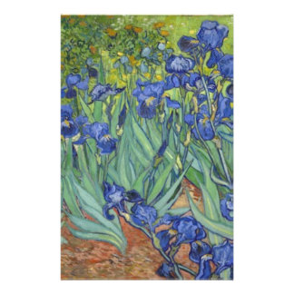 Blue Irises Stationery