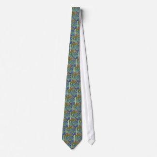 Blue Irises Tie