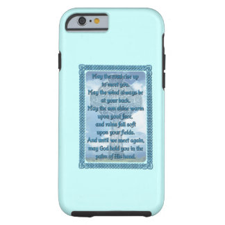 Blue Irish Blessing Tough iPhone 6 Case