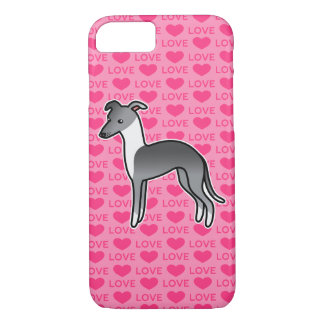 Blue Irish Italian Greyhound Love iPhone 8/7 Case
