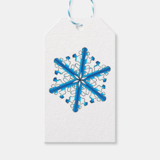 Blue Isolated Snowflake