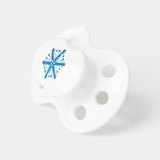 Blue Isolated Snowflake Pacifiers