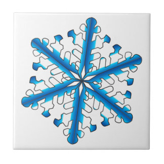 Blue Isolated Snowflake Tile