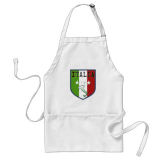 Blue Italia Flag Crest Cooking Apron