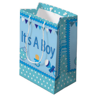 Blue Its A Boy Medium Gift Bag