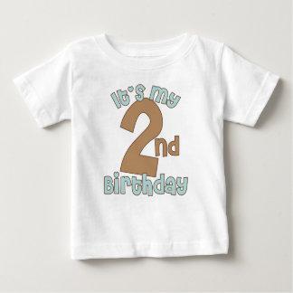 Blue It's My Second Birthday Baby T-Shirt