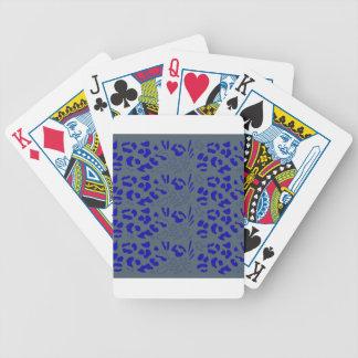 Blue jaguar design bicycle playing cards