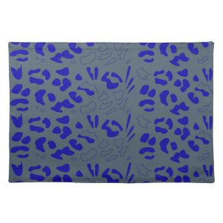 Blue jaguar design placemat