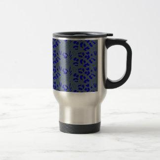 Blue jaguar design travel mug