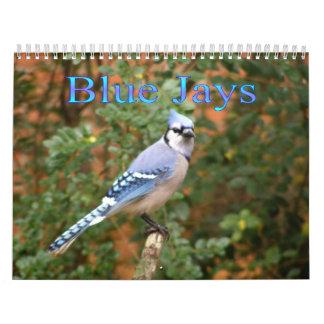 Blue Jay 12 Month Calendar