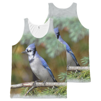 Blue Jay 1 All-Over Print Tank Top