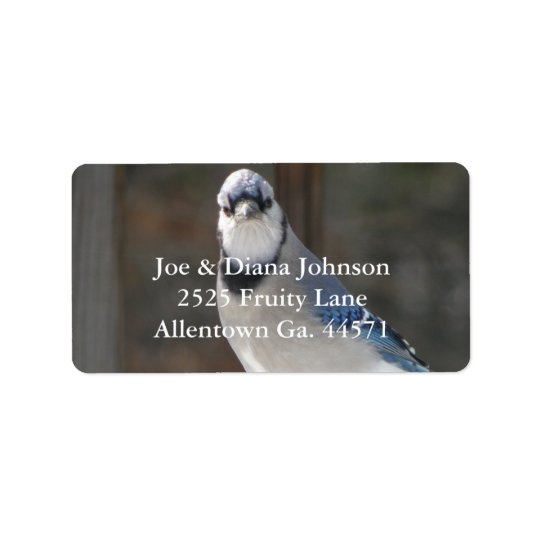 Blue Jay Address Label