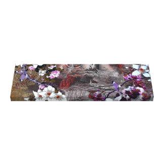 Blue Jay Cherry Blossom Canvas Print