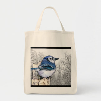 Blue Jay Drawing Tote