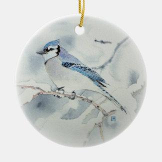 Blue Jay Holiday Ornament