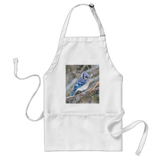 Blue Jay in a Snowstorm Standard Apron