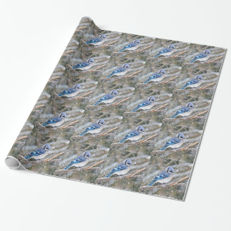 Blue Jay in a Snowstorm Wrapping Paper