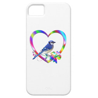 Blue Jay in Colorful Heart Barely There iPhone 5 Case
