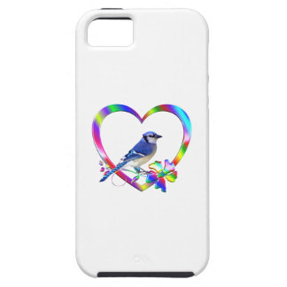 Blue Jay in Colorful Heart iPhone 5 Cover