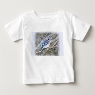 Blue Jay in Snow Christmas Holiday Baby T-Shirt