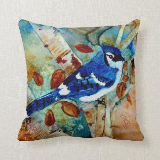 Blue Jay in the Tree Cushion