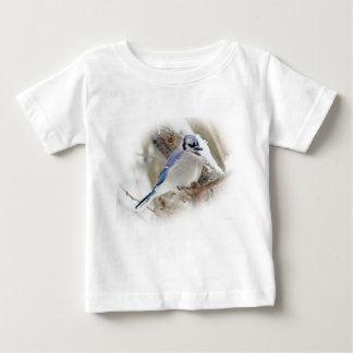 Blue Jay in Winter Snow Baby T-Shirt