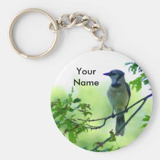 Blue Jay Key Ring